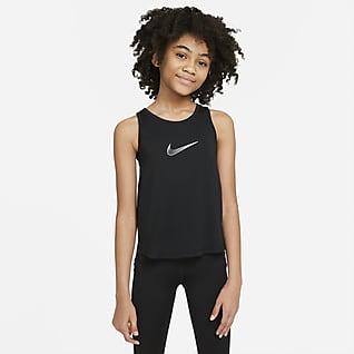 Nike Dri-FIT Trophy Camiseta de tirantes de entrenamiento para niñas talla grande