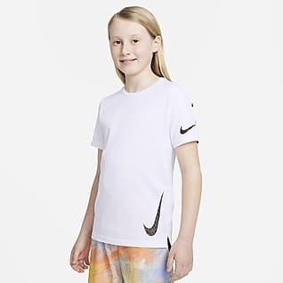 Nike Instacool Kortærmet træningsoverdel til større børn (drenge)