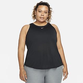 Nike Dri-FIT One Linne med standardpassform för kvinnor (Plus Size)