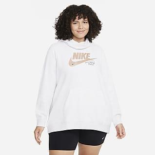 Nike Sportswear Club Fleece Sudadera con capucha con cuello en embudo para mujer (talla grande)