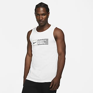 Nike Dri-FIT Haut de training sans manches à motif pour Homme