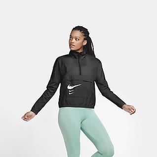 Nike Swoosh Run Chamarra de running sin cierre para mujer