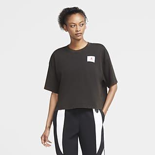 Jordan Essentials Γυναικείο κοντομάνικο T-Shirt σε τετράγωνη γραμμή