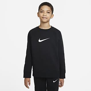 Nike Sportswear Swoosh Tröja med rundad hals för ungdom (killar)