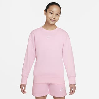 Nike Sportswear Club Fleece Felpa a girocollo - Ragazza