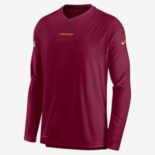 Nike Dri-FIT Sideline Coaches (NFL Washington Football Team) Men's Long-Sleeve V-Neck T-Shirt