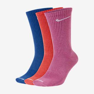 Nike Everyday Plus Lightweight Chaussettes de training mi-mollet pour Femme (3 paires)