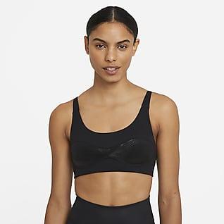 Nike Dri-FIT City Ready Sports-bh uden indlæg og med let støtte til kvinder