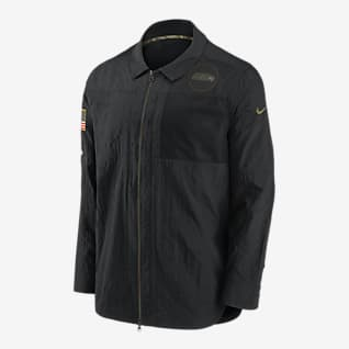 Nike Logo Salute to Service (NFL Seahawks) Men's Long-Sleeve Top