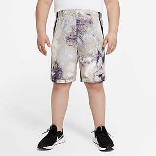 Nike Dri-FIT Shorts de entrenamiento Tie-Dye para niño talla grande