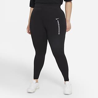Nike Sportswear Swoosh Yüksek Belli Kadın Taytı (Büyük Beden)