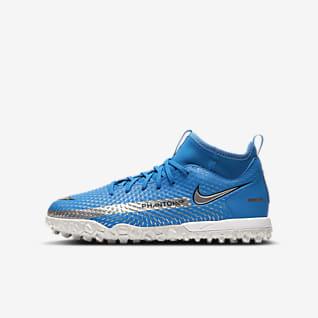 Nike Jr. Phantom GT Academy Dynamic Fit TF Ποδοσφαιρικό παπούτσι για τεχνητό χλοοτάπητα για μικρά/μεγάλα παιδιά