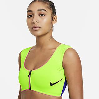 Nike Women's Color-Block Midkini Top