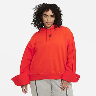 Nike Sportswear Icon Clash Kadın Kapüşonlu Üst (Büyük Beden)