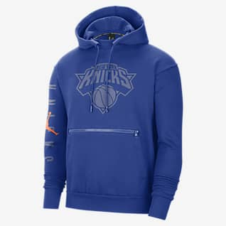 New York Knicks Courtside Men's Jordan NBA Fleece Pullover Hoodie