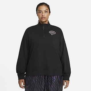 Nike Sportswear Varsity Sudadera con cierre de 1/4 para mujer talla grande