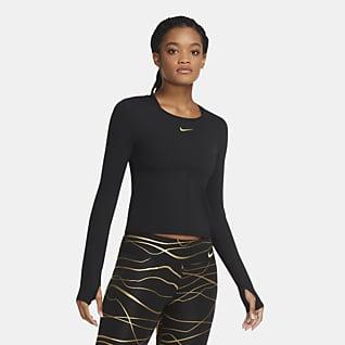 Nike Icon Clash Langarm-Laufoberteil für Damen