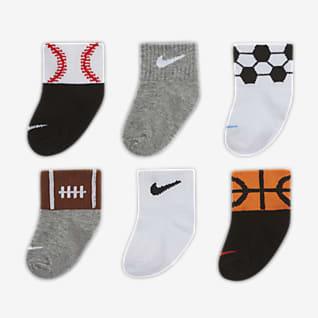 Nike Calcetines al tobillo para bebé (6 pares)
