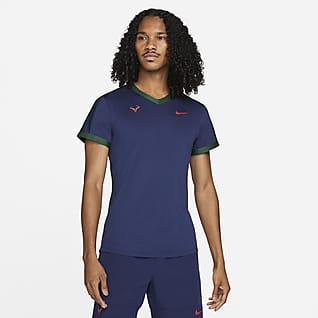 NikeCourt Dri-FIT ADV Rafa Kortärmad tenniströja för män