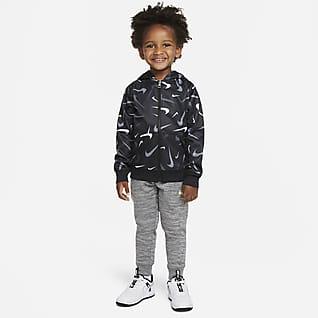 Nike Therma Conjunto de pantalones y sudadera con gorro para niños talla pequeña