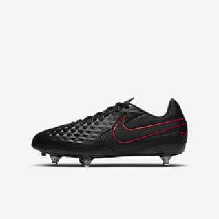 Nike Jr. Tiempo Legend 8 Club SG Korki piłkarskie na miękką murawę dla małych/dużych dzieci