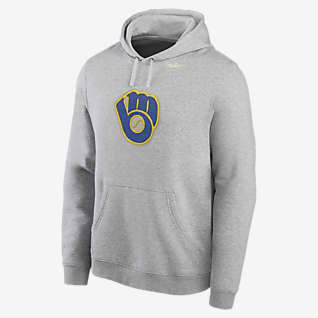 Nike Cooperstown Patch Club (MLB Milwaukee Brewers) Men's Pullover Hoodie