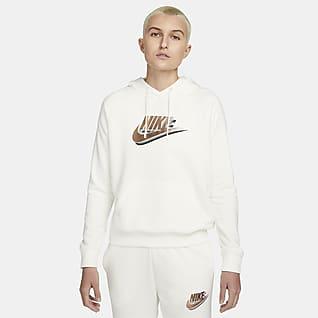 Nike Sportswear Felpa pullover con cappuccio e stampa - Donna