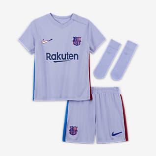 Выездная форма ФК «Барселона» 2021/22 Футбольный комплект для малышей