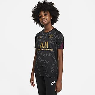 Paris Saint-Germain Camiseta de fútbol de manga corta para antes del partido para niños talla grande