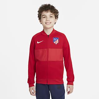 Atlético Madrid Tam Boy Fermuarlı Genç Çocuk Futbol Antrenman Ceketi