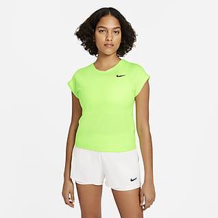 NikeCourt Dri-FIT Victory Dámský tenisový top s krátkým rukávem
