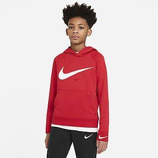 Nike Sportswear Swoosh Genç Çocuk (Erkek) Kapüşonlu Sweatshirt'ü