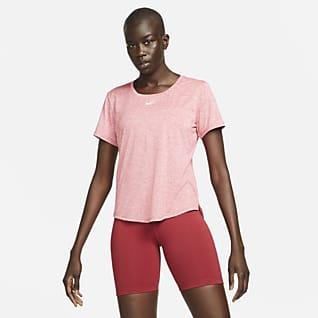 Nike Dri-FIT One Damestop met standaardpasvorm en korte mouwen