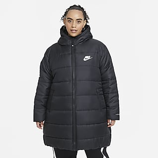 Nike Sportswear Therma-FIT Repel Parkas med hette til dame (Plus Size)
