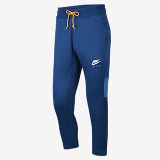 Nike Air กางเกงขายาวโพลีเอสเตอร์ถักผู้ชาย