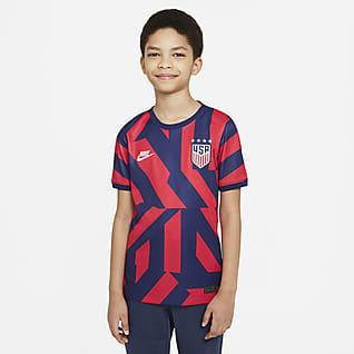 EE. UU. de visitante Stadium 2021 Camiseta de fútbol para niños talla grande
