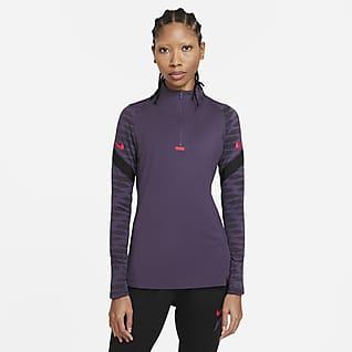 Nike Dri-FIT Strike Camiseta de fútbol de entrenamiento con cremallera de 1/4 - Mujer