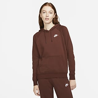 Nike Sportswear Essential Γυναικεία φλις μπλούζα με κουκούλα