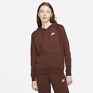 Nike Sportswear Essential Fleecehuvtröja för kvinnor