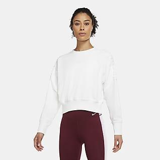 Nike Women's Cropped Fleece Laced Training Crew