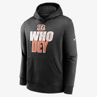 Nike Club Fleece (NFL Cincinnati Bengals) Big Kids' (Boys') Hoodie