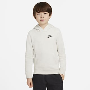 Nike Sportswear Zero Sudadera con gorro sin cierre para niños talla grande