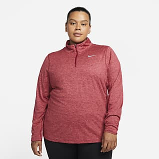 Nike Hardlooptop met halflange rits voor dames (grote maten)