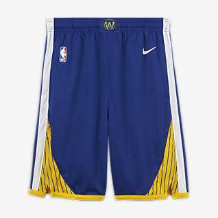 Golden State Warriors Icon Edition Nike NBA Swingman-shorts til store børn