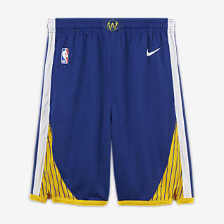Golden State Warriors Icon Edition Shorts Nike NBA Swingman för ungdom