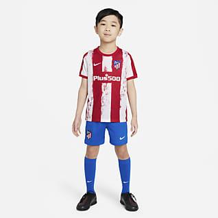 Atlético Madrid 2021/22 de local Kit de fútbol para niños talla pequeña
