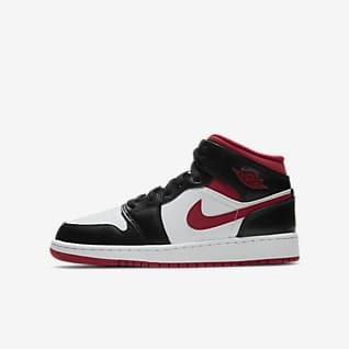 Air Jordan 1 Mid Sko för ungdom
