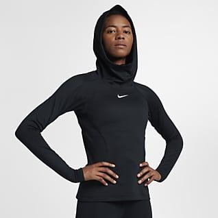 Nike Pro HyperWarm Kadın Antrenman Kapüşonlu Üst