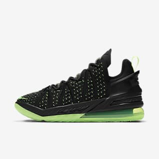 "LeBron 18 ""Black/Electric Green"" Basketballsko"