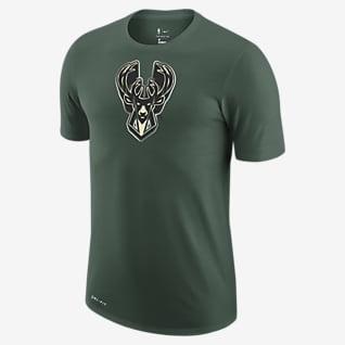 Milwaukee Bucks Earned Edition Nike NBA-herenshirt met logo en Dri-FIT
